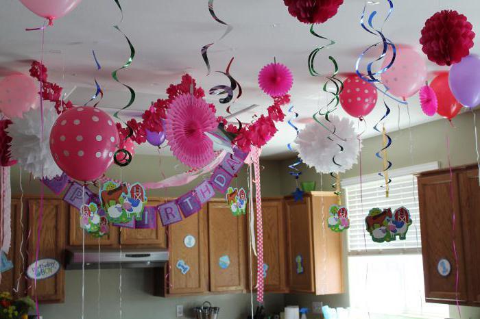 как украсить комнату на день рождения ребенку