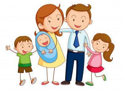 Картинка семья счастливая нарисованная