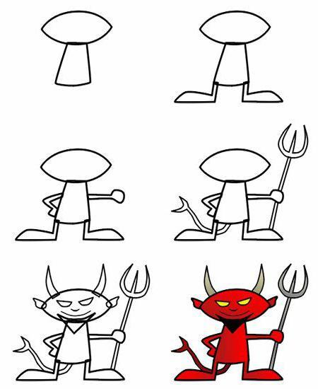 как нарисовать демона и ангела