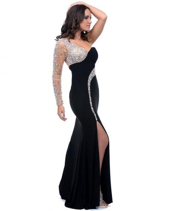 вечерние асимметричные платья