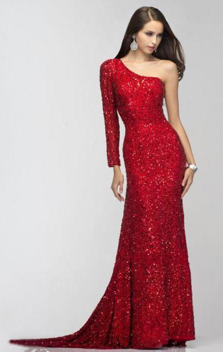 модели платьев с одним рукавом