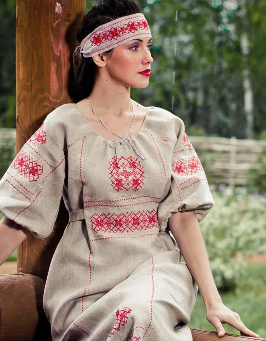 одежда славянская