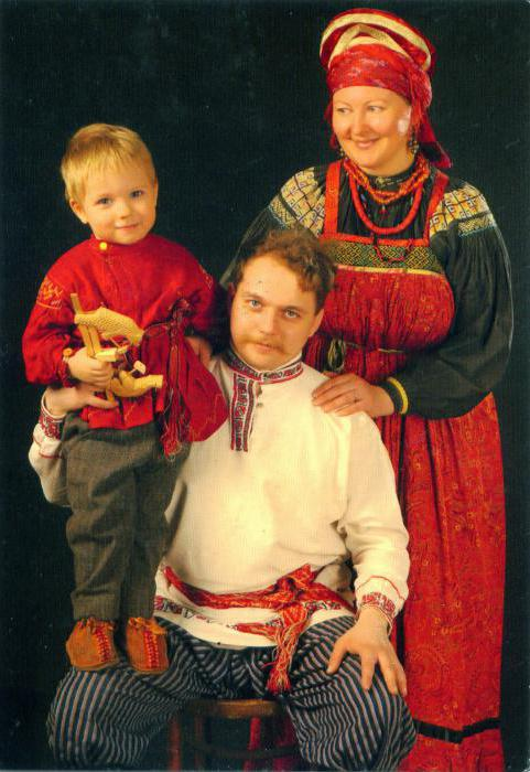славянская одежда фото