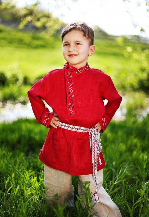 славянская детская одежда