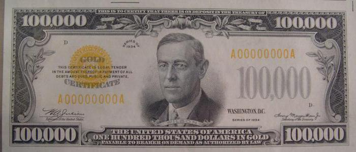 номиналы доллара сша какие банкноты существуют