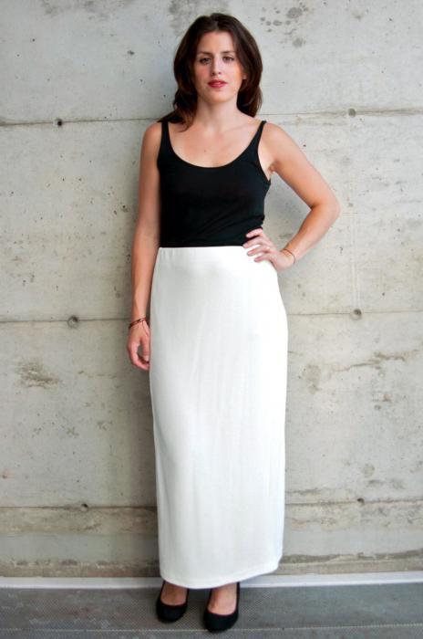 длинная прямая юбка