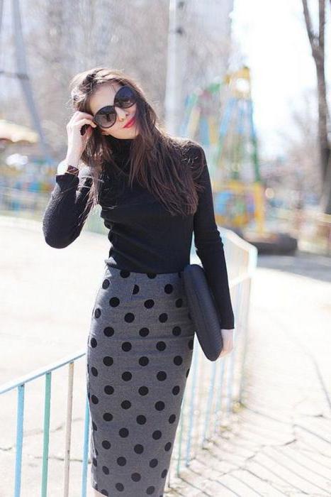 черная прямая длинная юбка
