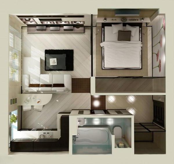 Квартира Евродвушка: планировка