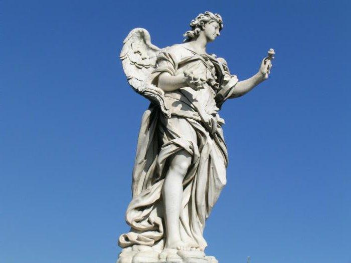 Angel sculpture as a work of art