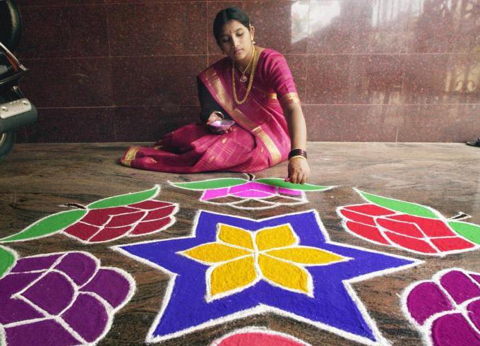 Decorative art of rangoli. What is it?