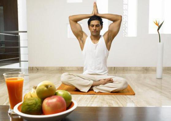 правильное питание йога
