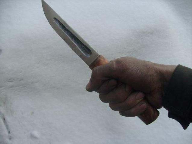 Якутский рабочий нож.