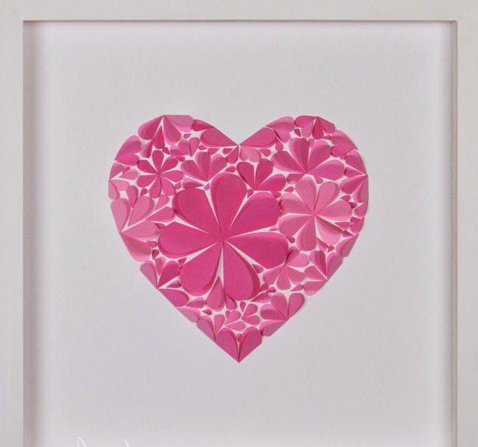 Днем учителя, оформление открытки сердечка