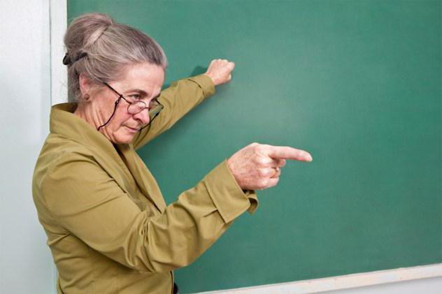 с Днем учителя. Первой учительнице-пенсионерке, поздравления