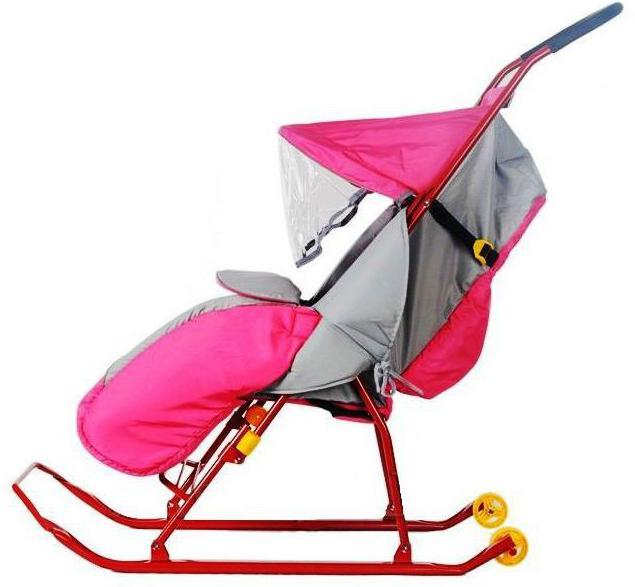 детские санки для детей от 1 года на колесиках