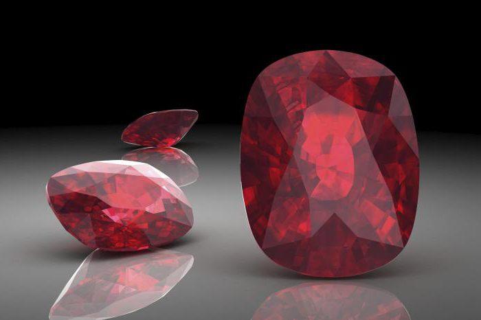 Рубин какого цвета