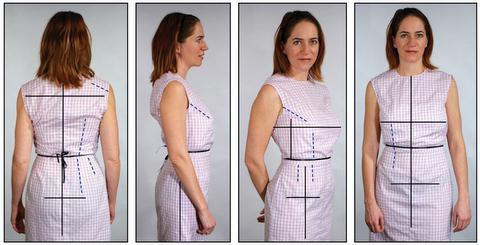 Как на платье сделать вытачки на спине платья 400