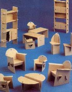 поделки из картона мебель для кукол