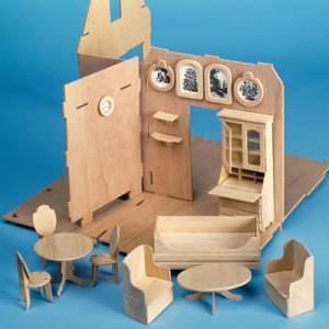как сделать мебель из картона для кукол