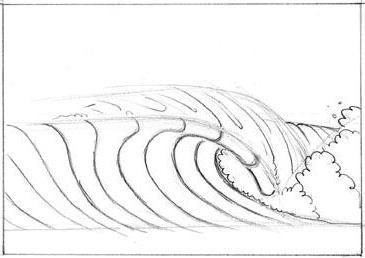 как нарисовать волны