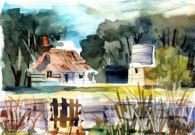 Sketches watercolor: how to develop creativity