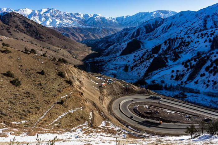 Узбекистан горы Чимган