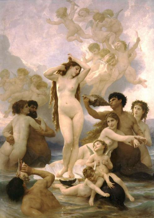 "The Painting ""Birth Of Venus"". Bouguereau Adolphe William"