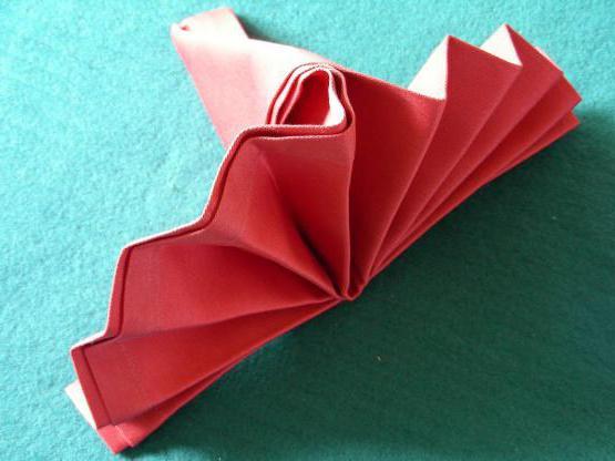 способы складывания салфеток бумажных