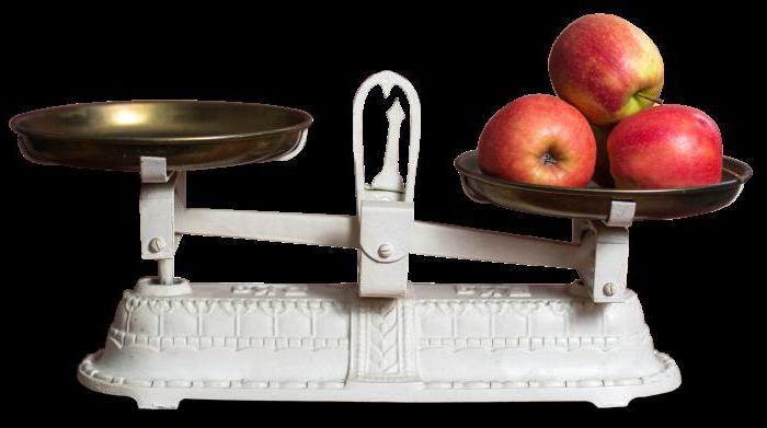 вес яблока