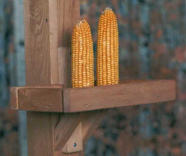 Кормушка с кукурузным початком