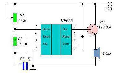 Генератор микросхема 555