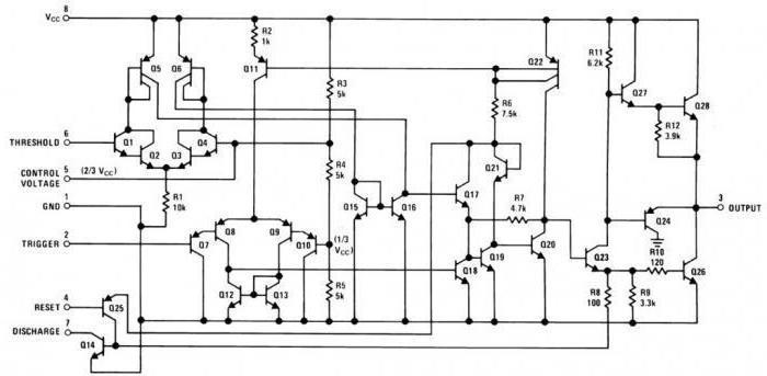 Микросхема 555 цоколевка