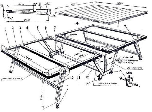 Сварочный стол своими руками чертежи