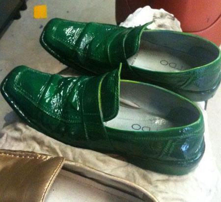 Покраска обуви из кожи