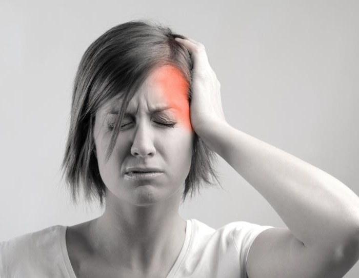Почему перед месячными болит голова в висках 24