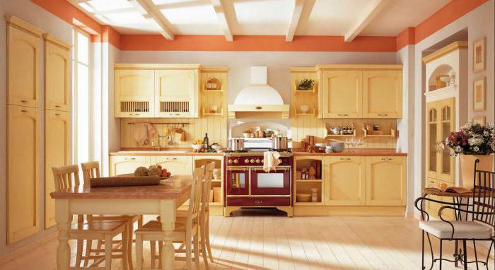 дизайн кухни гостиной деревянного дома