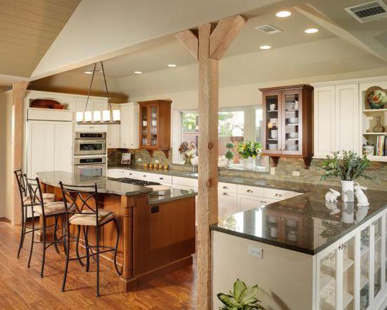 кухня своими руками в деревянном доме