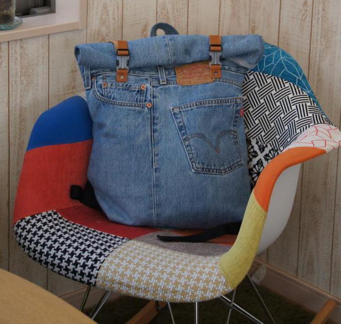 сумка рюкзак из джинсов своими руками выкройка