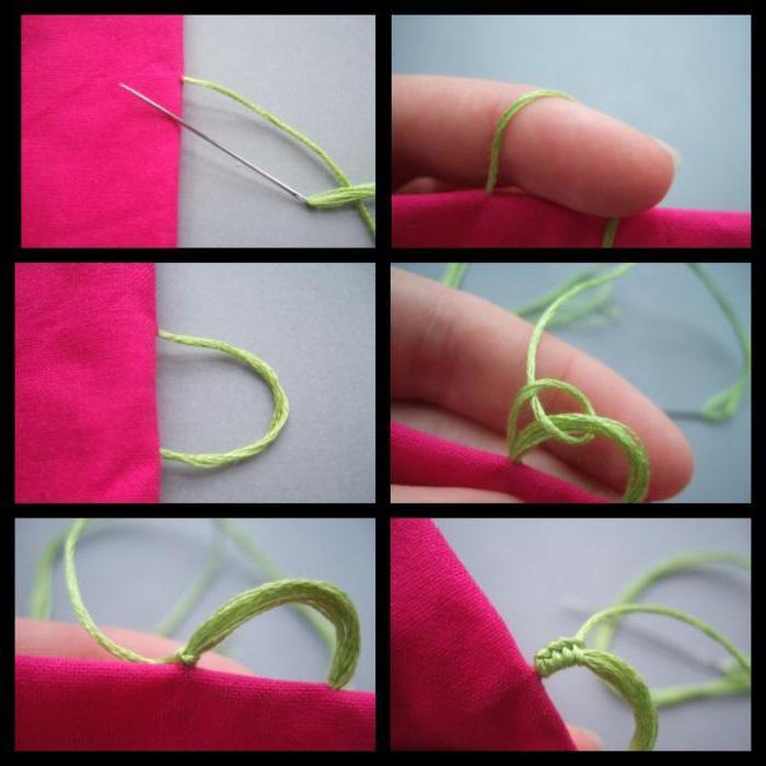 как сделать петельку на шторе из нитки