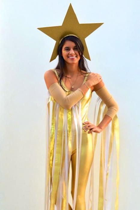 """Потрясающий новогодний костюм для девочки """"Звездочка"""" - photo#22"""