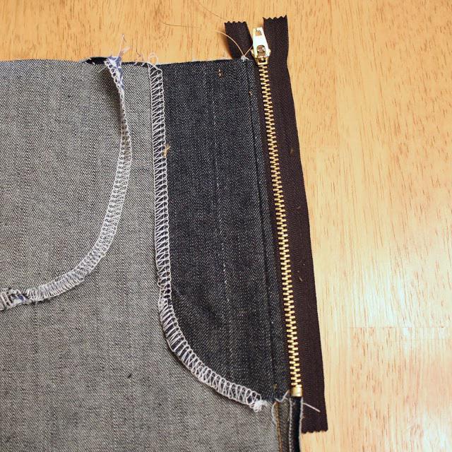 вшивание молнии в вязанные изделия