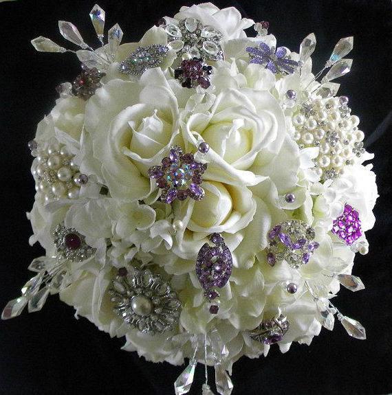 Букет свадебный фиолетовый (фото)