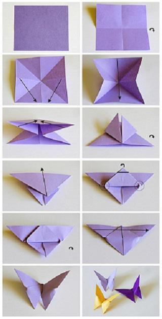 оригами цветок для мамы