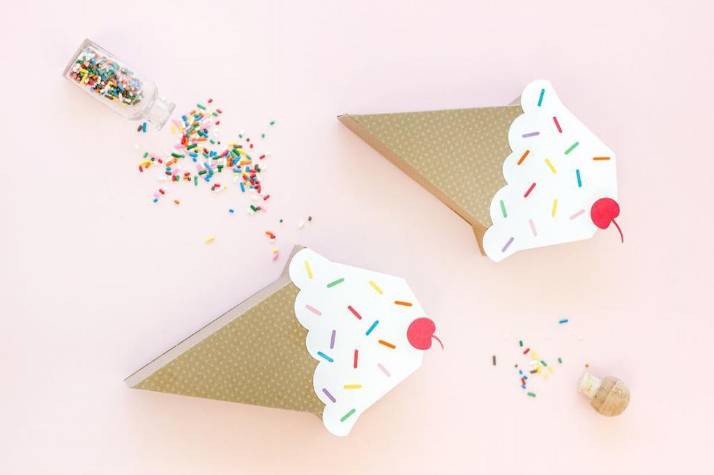 Торт-мороженное из бумаги