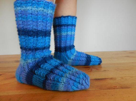 вязаные шерстяные носки для детей