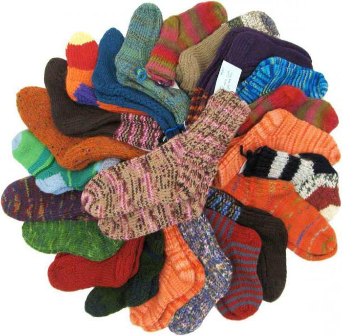 размеры шерстяных носков для детей