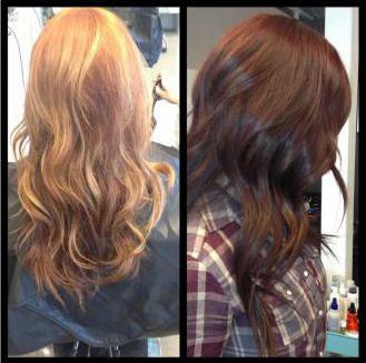 тонирование волос до и после