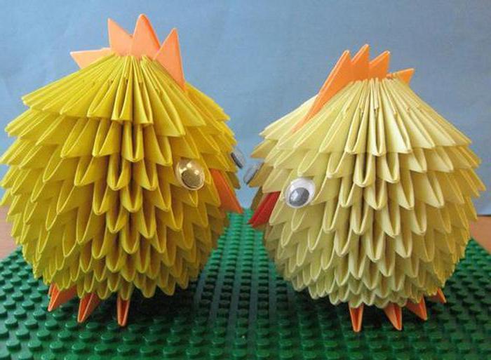 цыпленок модульное оригами мастер класс