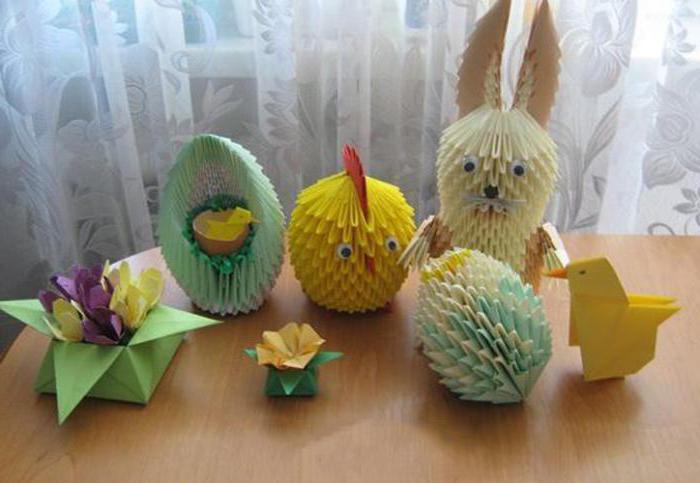 цыплята оригами модульные сборка