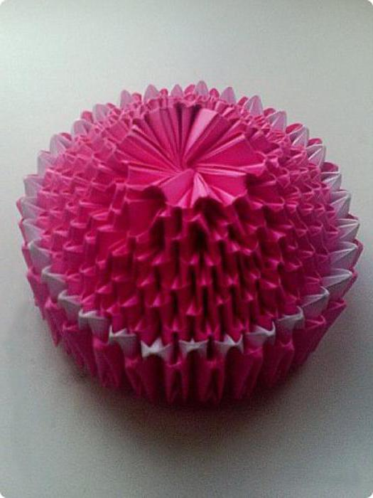 цветы из модулей оригами